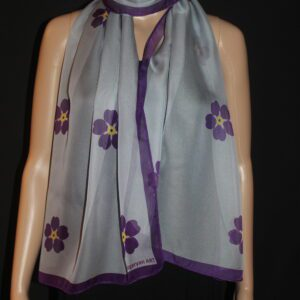 Forget me not chiffon scarf