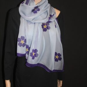 Forget me not 69-17 in long chiffon scarf