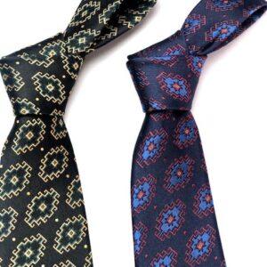 Rug design silk necktie by Anet's Collection