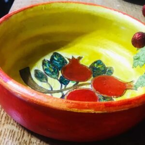 decorative plate -handpainted and designed