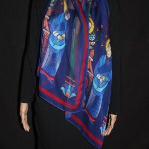 70-22 in Armenian medieval miniature scarf