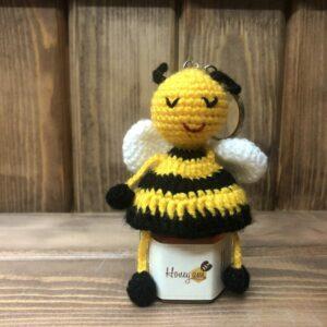 Bee Key Chain & Honey in Jar (45gr)