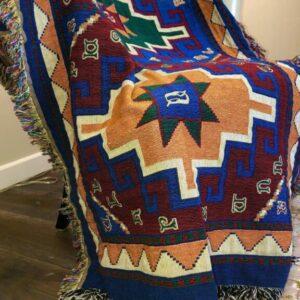 Armenian Alphabet Tapestry Throw